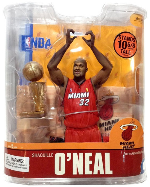 McFarlane Toys NBA Miami Heat Sports Picks Series 13 Shaquille O'Neal Action Figure [Red Jersey]