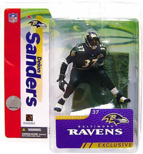 McFarlane Toys NFL Baltimore Ravens Sports Picks Collectors Club Deion Sanders Exclusive Action Figure [Ravens, Black Jersey]