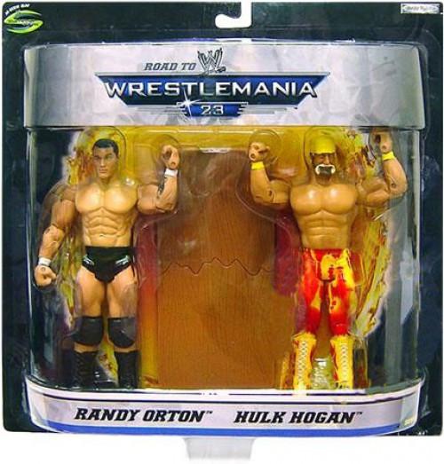 WWE Wrestling Road to WrestleMania 23 Series 1 Randy Orton vs. Hulk Hogan Exclusive Action Figure 2-Pack