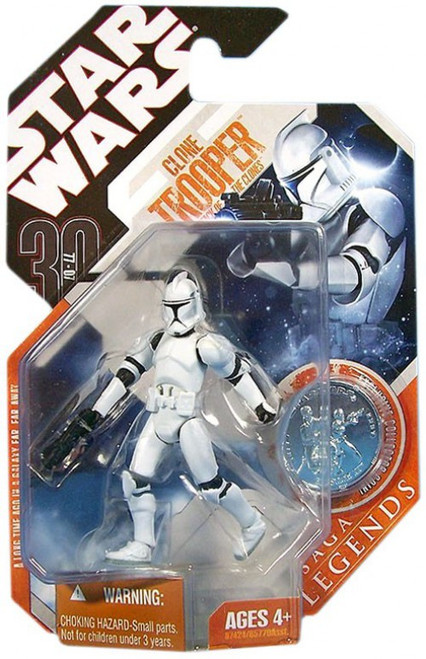 Star Wars Attack of the Clones 2007 Saga Legends (30th Anniversary) Clone Trooper Action Figure #10 [Episode II]