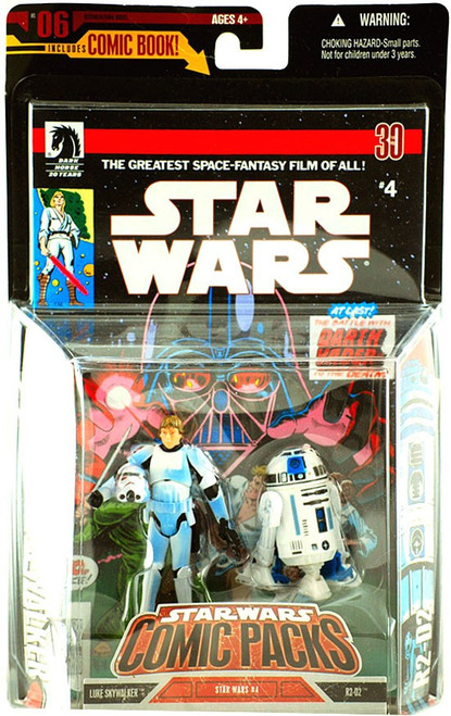 Star Wars A New Hope 2006 Comic Pack Luke Skywalker in Stormtrooper Disguise & R2-D2 Action Figure 2-Pack