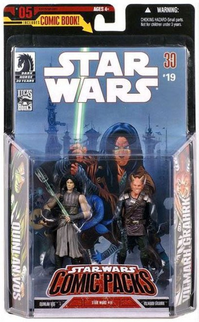 Star Wars Expanded Universe 2006 Comic Pack Quinlan Vos & Vilmarh Grahrk Action Figure 2-Pack