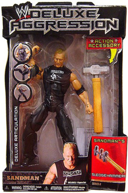 WWE Wrestling Deluxe Aggression Series 8 Sandman Action Figure
