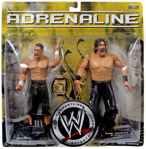 WWE Wrestling Adrenaline Series 25 John Cena & The Great Khali Action Figure 2-Pack