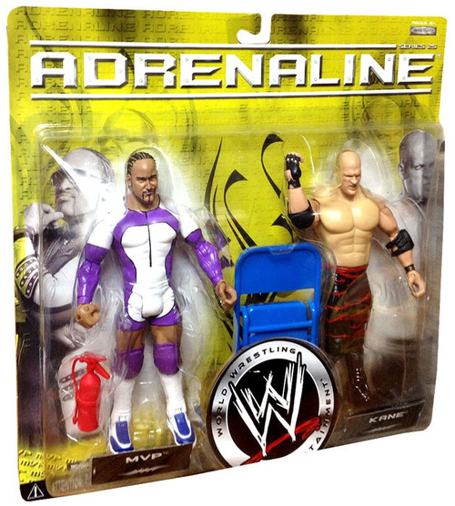 WWE Wrestling Adrenaline Series 25 Kane & MVP Action Figure 2-Pack