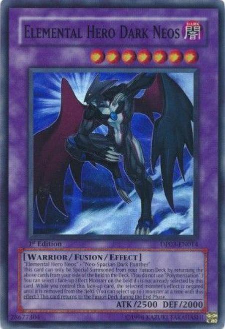 YuGiOh GX Trading Card Game Duelist Pack Jaden Yuki 2 Super Rare Elemental Hero Dark Neos DP03-EN014