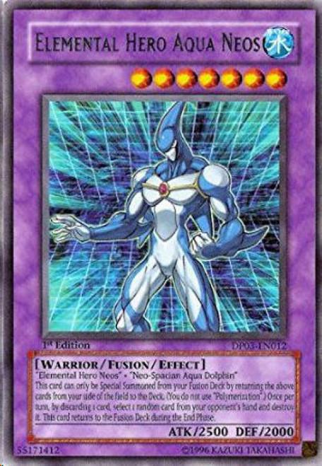 YuGiOh GX Trading Card Game Duelist Pack Jaden Yuki 2 Rare Elemental Hero Aqua Neos DP03-EN012