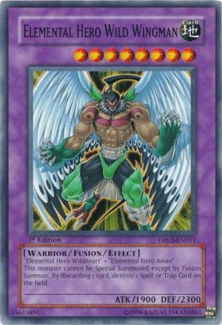 YuGiOh GX Trading Card Game Duelist Pack Jaden Yuki 2 Common Elemental Hero Wild Wingman DP03-EN011