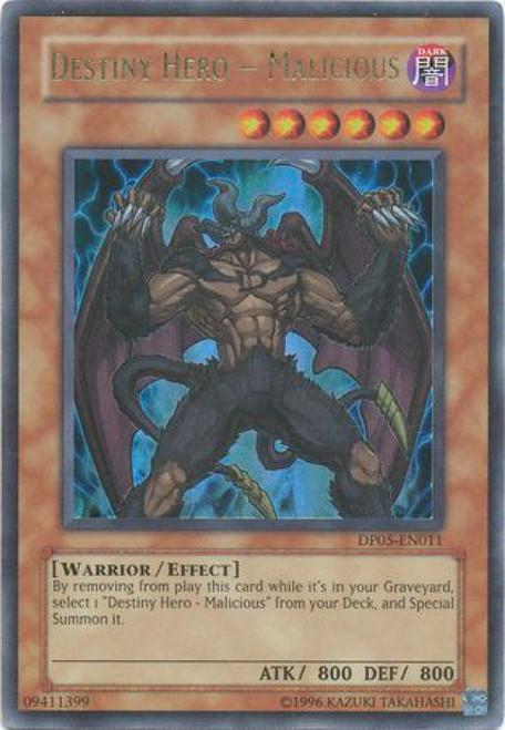 YuGiOh GX Trading Card Game Duelist Series Aster Phoenix Ultra Rare Destiny Hero - Malicious DP05-EN011