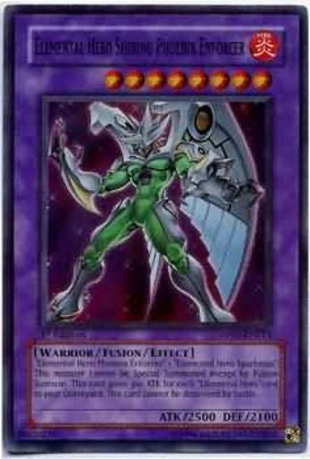 YuGiOh GX Trading Card Game Duelist Series Aster Phoenix Super Rare Elemental Hero Shining Phoenix Enforcer DP05-EN013