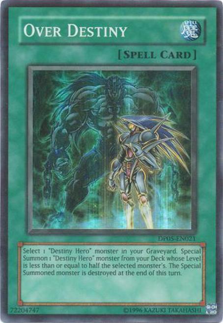 YuGiOh GX Trading Card Game Duelist Series Aster Phoenix Super Rare Over Destiny DP05-EN021