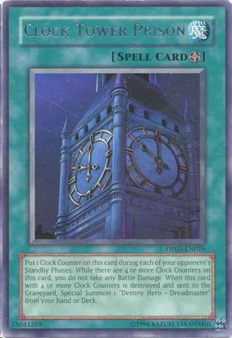 YuGiOh GX Trading Card Game Duelist Series Aster Phoenix Rare Clock Tower Prison DP05-EN016