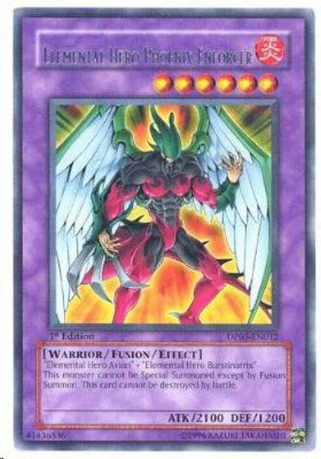 YuGiOh GX Trading Card Game Duelist Series Aster Phoenix Rare Elemental Hero Phoenix Enforcer DP05-EN012