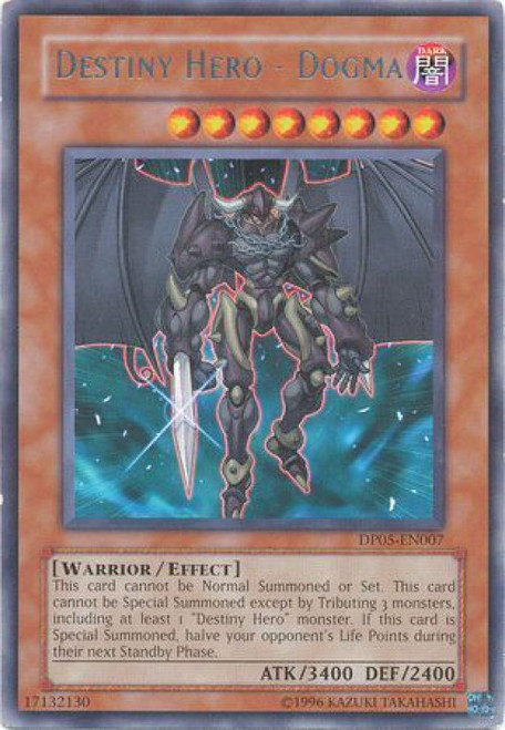 YuGiOh GX Trading Card Game Duelist Series Aster Phoenix Rare Destiny Hero - Dogma DP05-EN007