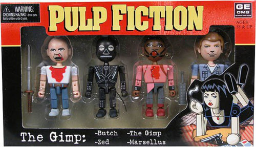 NECA Pulp Fiction Geomes The Gimp Mini Figure 4-Pack #2