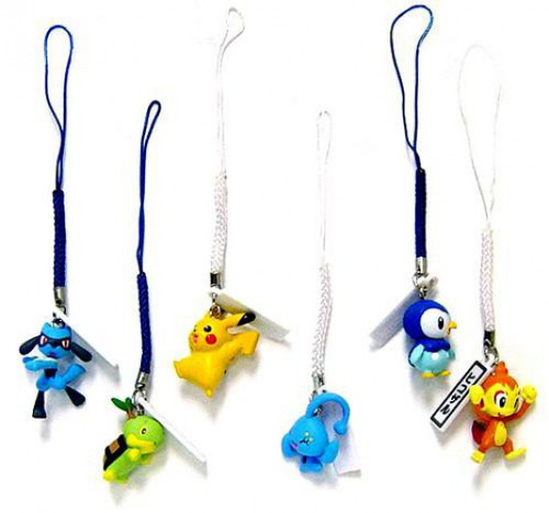 Pokemon Set of 6 Phone Danglers PVC Figures