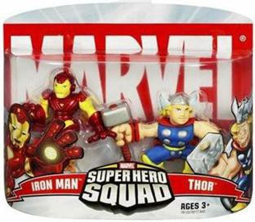 Marvel Super Hero Squad Series 2 Iron Man & Thor 3-Inch Mini Figure 2-Pack