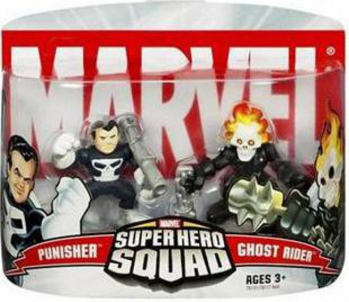 Marvel Super Hero Squad Series 2 Ghost Rider & Punisher 3-Inch Mini Figure 2-Pack