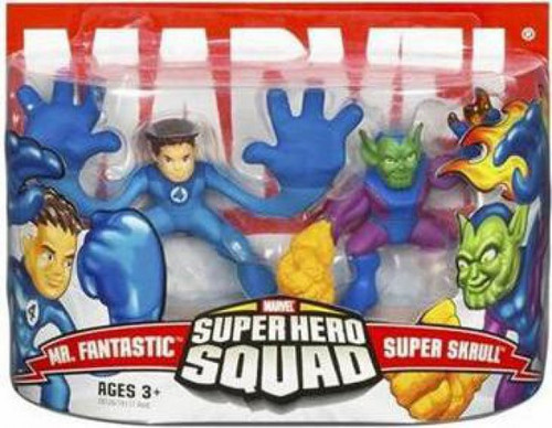 Marvel Super Hero Squad Series 3 Mr. Fantastic & Super Skrull 3-Inch Mini Figure 2-Pack