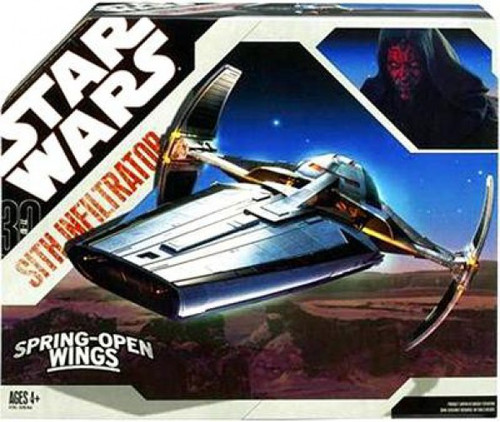 Star Wars Phantom Menace 30th Anniversary Sith Infiltrator Action Figure Vehicle