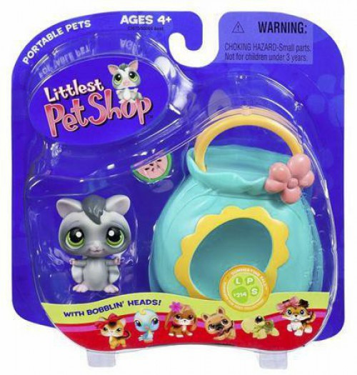 Littlest Pet Shop Portable Pets Sugar Glider Figure [Pouch]