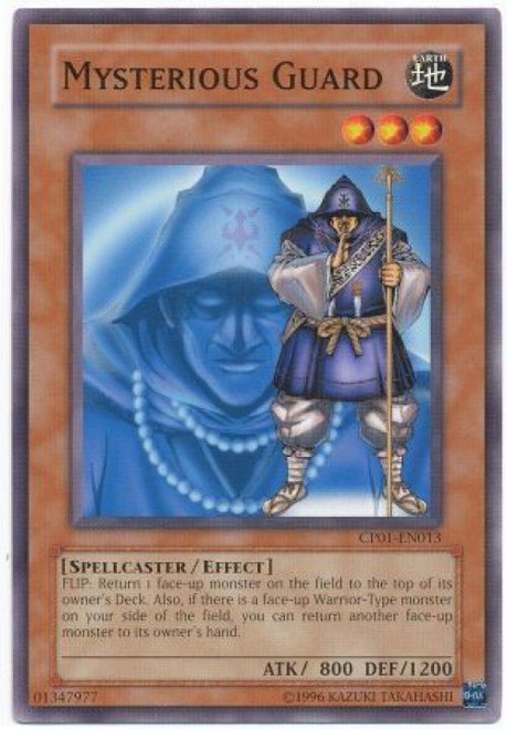 YuGiOh GX Trading Card Game Champion Pack: Game 1 Common Mysterious Guard CP01-EN013