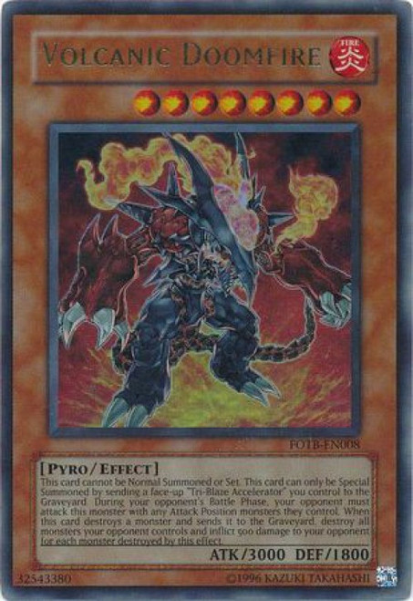 YuGiOh GX Force of the Breaker Ultra Rare Volcanic Doomfire FOTB-EN008