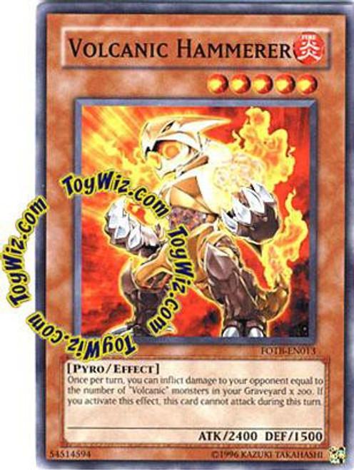 YuGiOh GX Trading Card Game Force of the Breaker Common Volcanic Hammerer FOTB-EN013