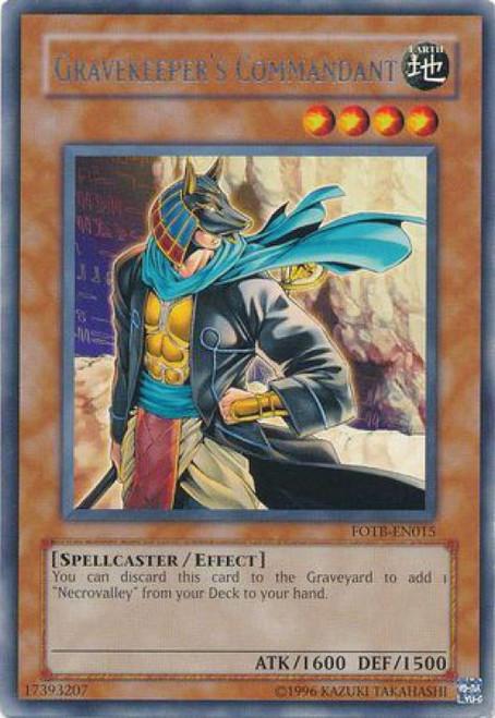 YuGiOh GX Trading Card Game Force of the Breaker Rare Gravekeeper's Commandant FOTB-EN015