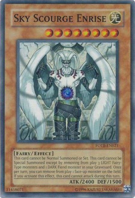 YuGiOh GX Force of the Breaker Super Rare Sky Scourge Enrise FOTB-EN021