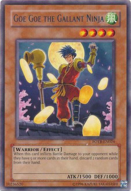 YuGiOh GX Trading Card Game Force of the Breaker Rare Goe Goe the Gallant Ninja FOTB-EN024