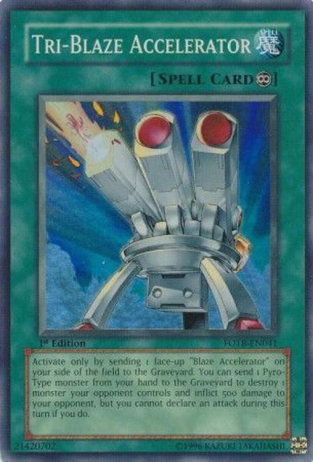 YuGiOh GX Trading Card Game Force of the Breaker Super Rare Tri-Blaze Accelerator FOTB-EN041