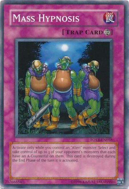 YuGiOh GX Trading Card Game Force of the Breaker Common Mass Hypnosis FOTB-EN058