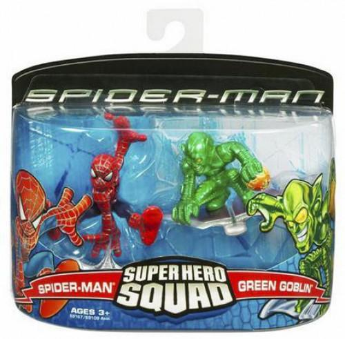 Spider-Man Movie Super Hero Squad Spider-Man & Green Goblin Mini Figure 2-Pack