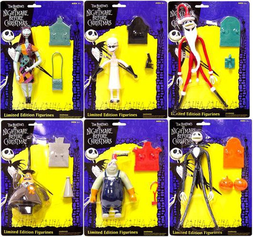 NECA Nightmare Before Christmas Bendable Set of 6 Figures