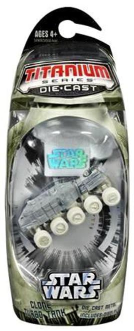 Star Wars The Clone Wars Titanium Series 2006 Clone Turbo Tank Diecast Vehicle