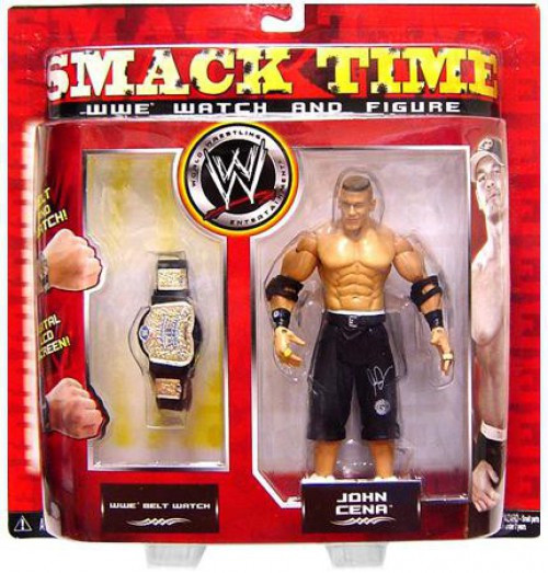 WWE Wrestling Smack Time John Cena Belt Watch & Action Figure