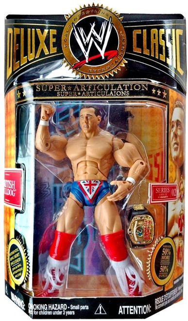 WWE Wrestling Deluxe Classic Superstars Series 2 British Bulldog Exclusive Action Figure