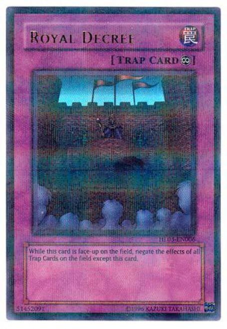 YuGiOh Hobby League Parallel Rare Royal Decree HL03-EN006
