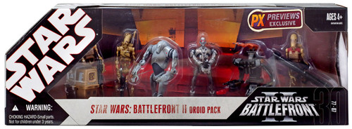 Star Wars Expanded Universe 2007 Battlefront II Droid Pack Exclusive Action Figure Set