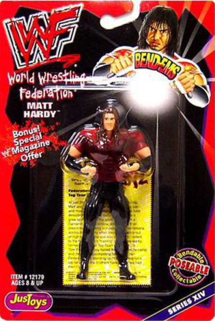 WWE Wrestling WWF Bend-Ems Series 14 Matt Hardy Rubber Figure