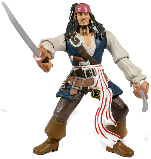 Pirates of the Caribbean At World's End Dual Action Battlers Jack Sparrow Action Figure [Ultimate]