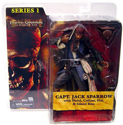 NECA Pirates of the Caribbean At World's End Series 1 Captain Jack Sparrow Action Figure