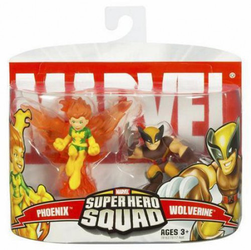 Marvel Super Hero Squad Series 4 Phoenix & Wolverine 3-Inch Mini Figure 2-Pack
