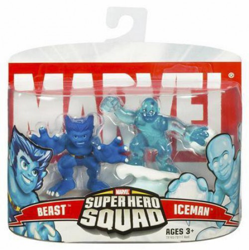 Marvel Super Hero Squad Series 4 Beast & Iceman 3-Inch Mini Figure 2-Pack