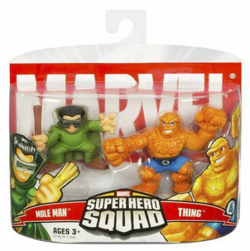 Marvel Super Hero Squad Series 4 Mole Man & Thing 3-Inch Mini Figure 2-Pack