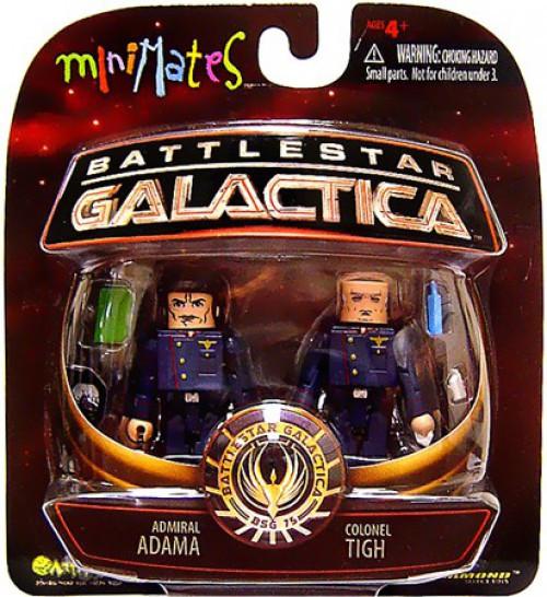Battlestar Galactica MiniMates Admiral Adama & Colonel Tigh Minifigure 2-Pack