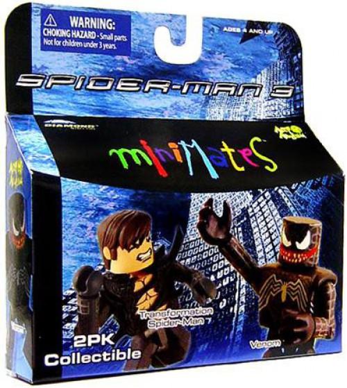 Spider-Man 3 Minimates Series 18 Transformation Spider-Man & Venom Minifigure 2-Pack