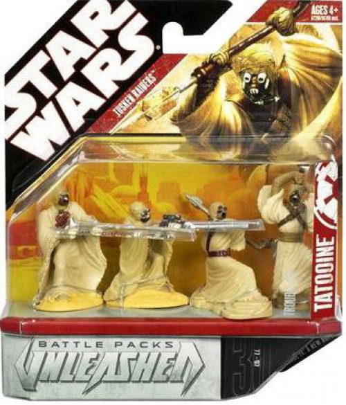 Star Wars A New Hope Battle Pack Tusken Raiders Action Figure 4-Pack [Trouble On Tatooine]