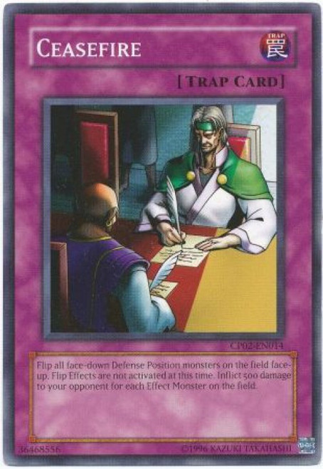 YuGiOh GX Trading Card Game Champion Pack: Game 2 Common Ceasefire CP02-EN014